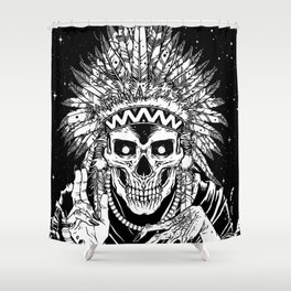 INVASION - Black and white variant Shower Curtain