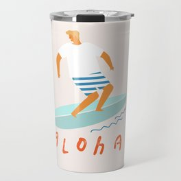 Surfer aloha poster Travel Mug