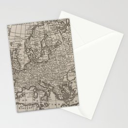 Vintage Map of Europe (1701) Stationery Cards