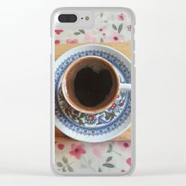 Coffee Lovers Cup Clear iPhone Case