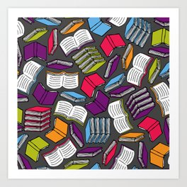 So Many Colorful Books... Art Print