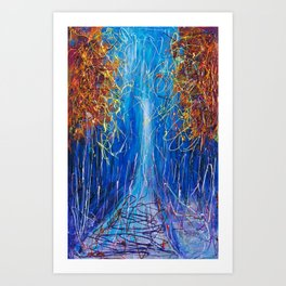 Impressionist Autumn -  ( inspired by Pollock ) Art Print
