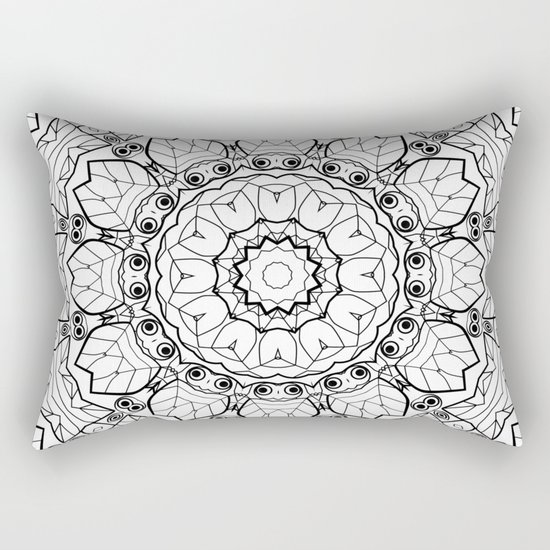 """Black and white pattern . """"Lola"""" Notepad-cover-coloring . Rectangular Pillow"""