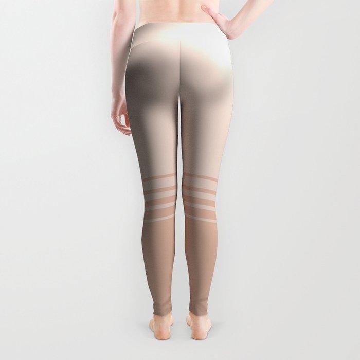 Nude & Soft Pink Horizontal Gradient Leggings