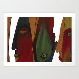 facing faces Art Print