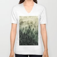 skyfall V-neck T-shirts featuring Everyday // Fetysh Edit by Tordis Kayma