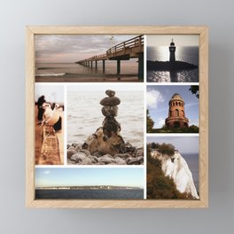 Collage of Rügen Framed Mini Art Print
