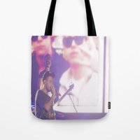 liam payne Tote Bags featuring Liam Payne by Halle