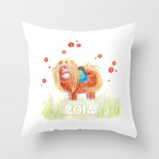 Happy New Year 2014  Throw Pillow