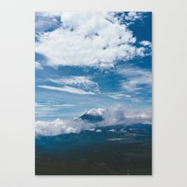 Blue Mountain View Hiking up Iztaccihutal Volcano, Mexico City Canvas Print