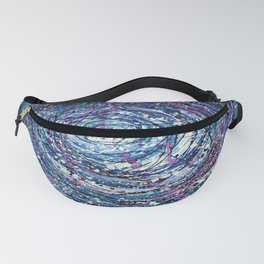 Star Trails Circular Abstract  Pollock Inspired Painting Fanny Pack