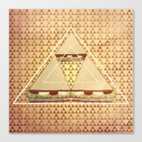 triforce Canvas Prints featuring Triforce by matteolasi