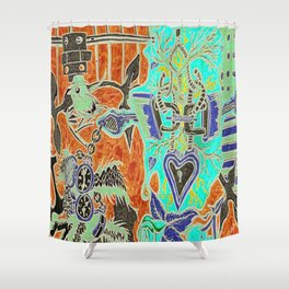 Time Flys Shower Curtain
