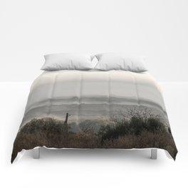 Foggy landscape Comforters