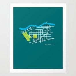 Brownes Addition / Peaceful Valley, Spokane Art Print