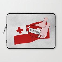 Tonga Rugby Flag Laptop Sleeve