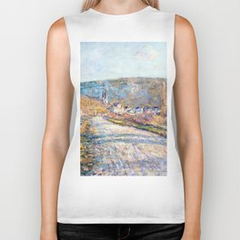 1879-Claude Monet-The Road to Vétheuil-23 x 28 Biker Tank