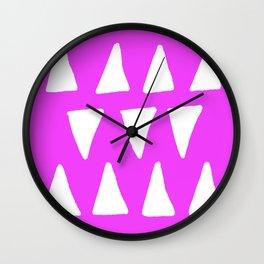 Fuchsia Frolic Wall Clock
