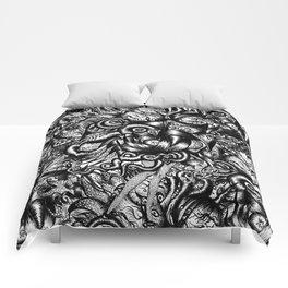 Spaceship Girl_Black Comforters