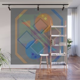 Globes and Squares, Etc. Wall Mural