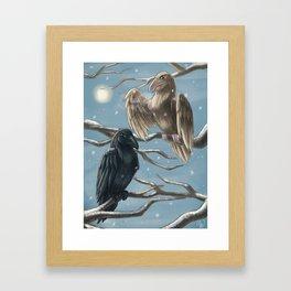 Winter Ravens Framed Art Print