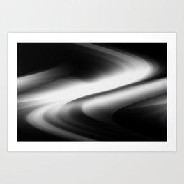 DREAM PATH (Black & Grays) Art Print