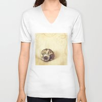 poetry V-neck T-shirts featuring Physical Poetry by Tangerine-Tane