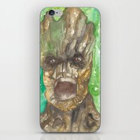 groot iPhone & iPod Skins featuring Groot by Makenna Raye