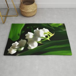 Painted Lily-of-the-Valley Rug