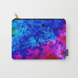 Rock Candy Blue Tie Dye. Carry-All Pouch