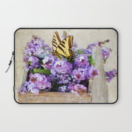 Lilacs and the Butterfly Laptop Sleeve