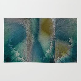 Industrial Wings in Teal Rug