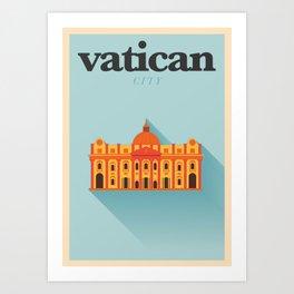 Minimal Vatican City Poster Art Print