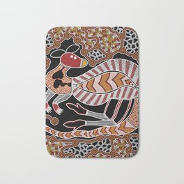 Aboriginal Art - Kangaroo Dreaming Bath Mat