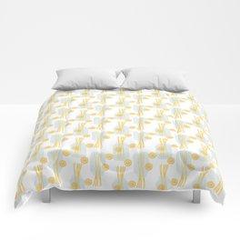 Modern pastel green orange fruit pasta abstract pattern Comforters