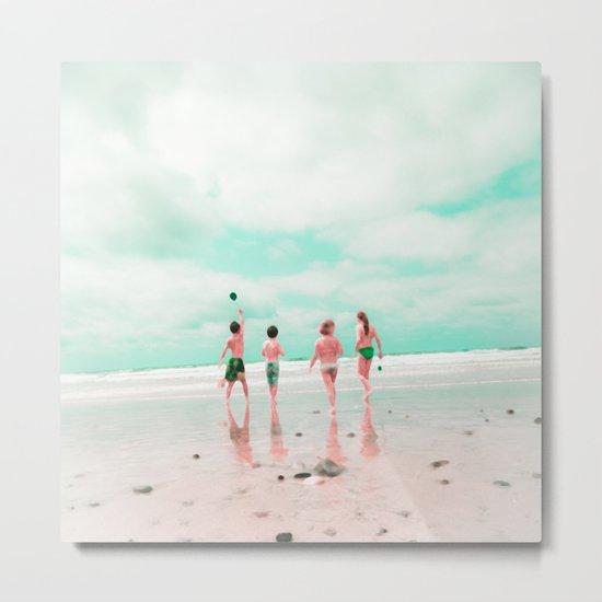 Four & the Beach Metal Print