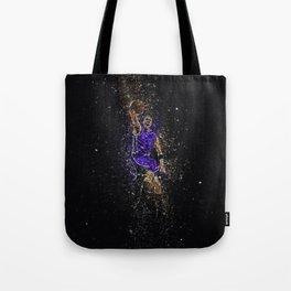 Basketball dunk glitter square Tote Bag
