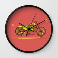 bike Wall Clocks featuring Bike by Daniella Gallistl