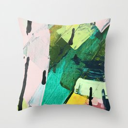 Hopeful[4] - a bright mixed media abstract piece Throw Pillow