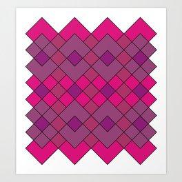 Pink Argyle Bliss Art Print