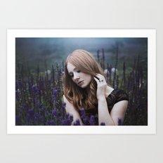 beautiful lavendel girl Art Print