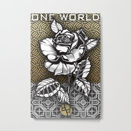 Rubino Metal Rose One World Metal Print