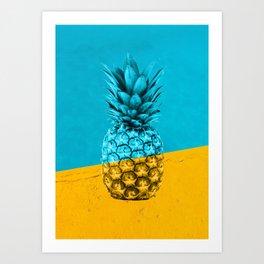 Pineapple Retro Art Print