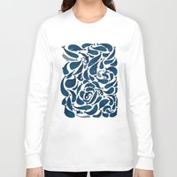 whales Long Sleeve T-shirts featuring Whales by Amanda Lima