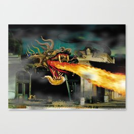 Barton The Mutant Salamander Canvas Print