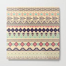 Aztec pattern 02 Metal Print
