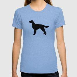 Irish Setter dog silhouette minimal dog breed portrait gifts for dog lover T-shirt