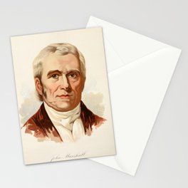 Our Country 1891 - John Marshall, Fourth Chief Justice of US Stationery Cards