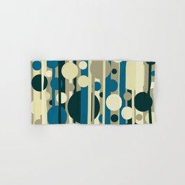 Stripes and circles color mode #5 Hand & Bath Towel