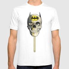Bat Pop Mens Fitted Tee White MEDIUM